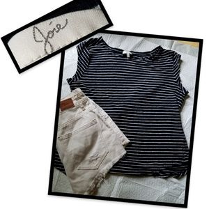 Joie Linen Striped Tshirt